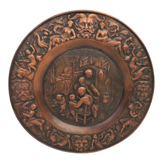 Victorian Figural Bronze Wall Plaque For Sale