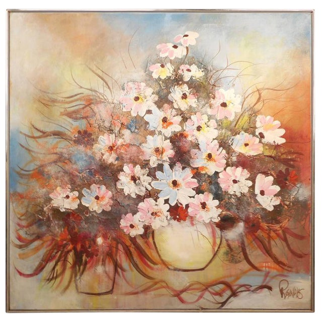 Mid-Century Modern Floral Abstract Painting For Sale