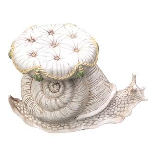 1960s Art Deco Terra Cotta Garden Snail Stool For Sale