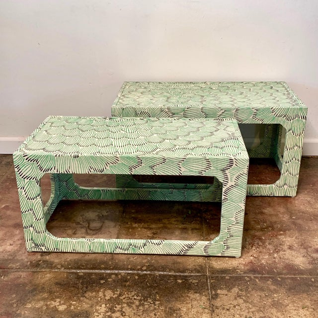 Contemporary 1970s Mid-Century Modern Celerie Kemble Nesting Tables - a Pair For Sale - Image 3 of 9