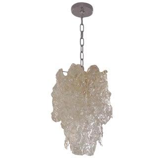 Murano Glass Chandelier by Carlo Nason for Mazzega For Sale