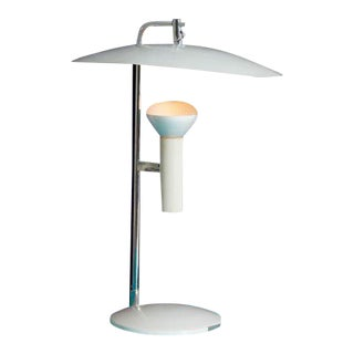 1960s White Table Lamp by Robert Sonneman For Sale