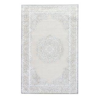 Jaipur Living Malo Medallion Gray & White Area Rug - 9' X 12' For Sale