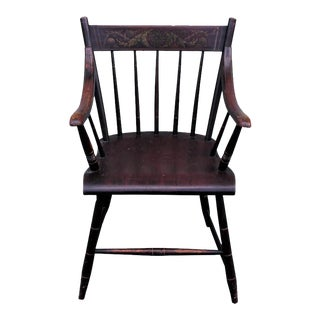 Early Original Paint Decorated 19th Century Hitchcock Armchair For Sale