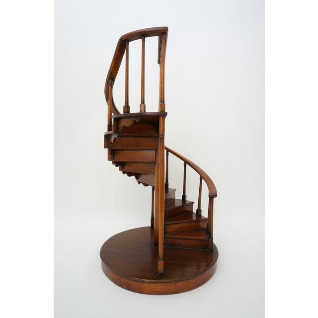 Vintage Spiral Staircase Architectural Model in Mahogany from a Palm Beach estate. We have a similar one listed on...