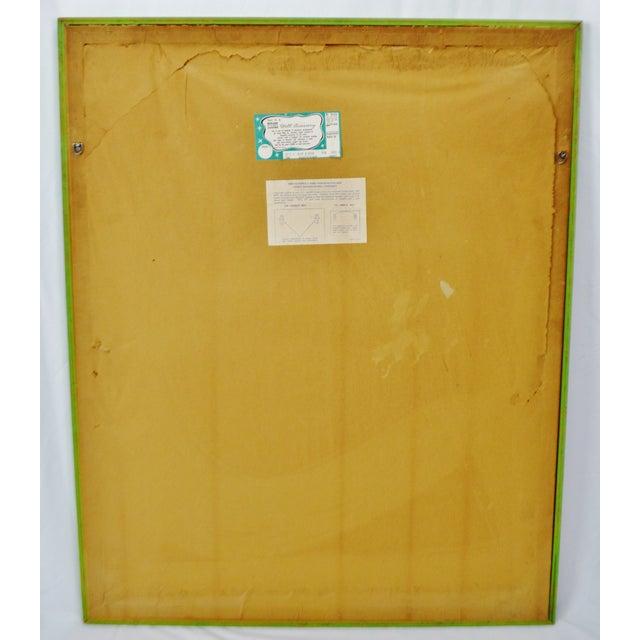 "Vintage Framed Alexander Sharpe Ross Print of Watercolor Titled ""Blue Ribbon"" - Rare For Sale - Image 9 of 11"