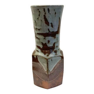 Mid-Century Modern Glazed Studio Pottery Vase For Sale