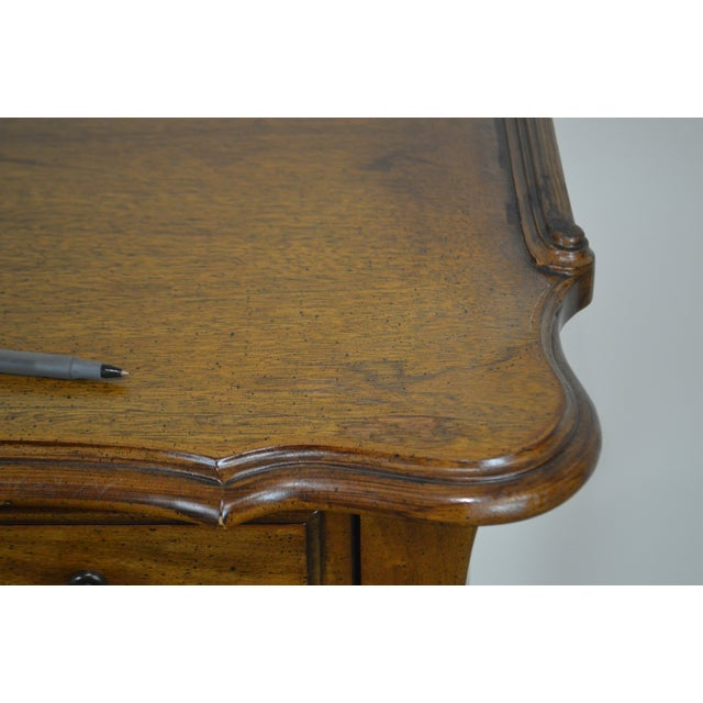 French Louis XV Style Vintage Walnut Small Writing Desk or Vanity For Sale - Image 12 of 13
