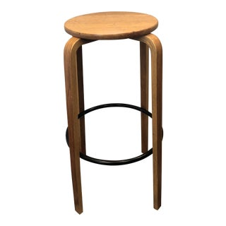 Mid Century Alvar Aalto Style Bentwood Counter Stool For Sale