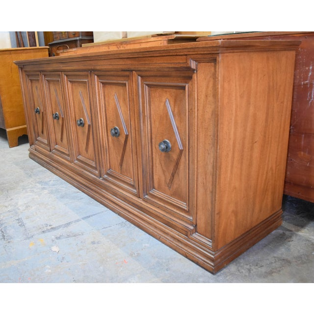 Traditional Late 19th Century Vintage Mount Airy Furniture Five Doors Credenza Cabinet For Sale - Image 3 of 9