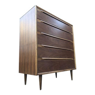 Beautiful Mid Century High Boy Dresser For Sale