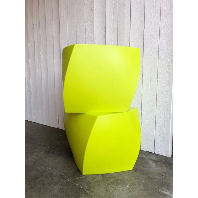 Plastic Twist Cubes by Frank Gehry for Heller- a Pair For Sale - Image 7 of 10