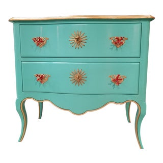 Italian Solid Cherry Chest of Drawers / Console For Sale