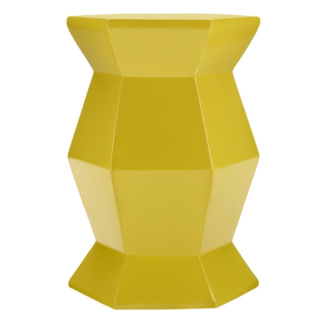 Selamat Designs Gemma Yellow Lacquer Spot Table - Image 1 of 3