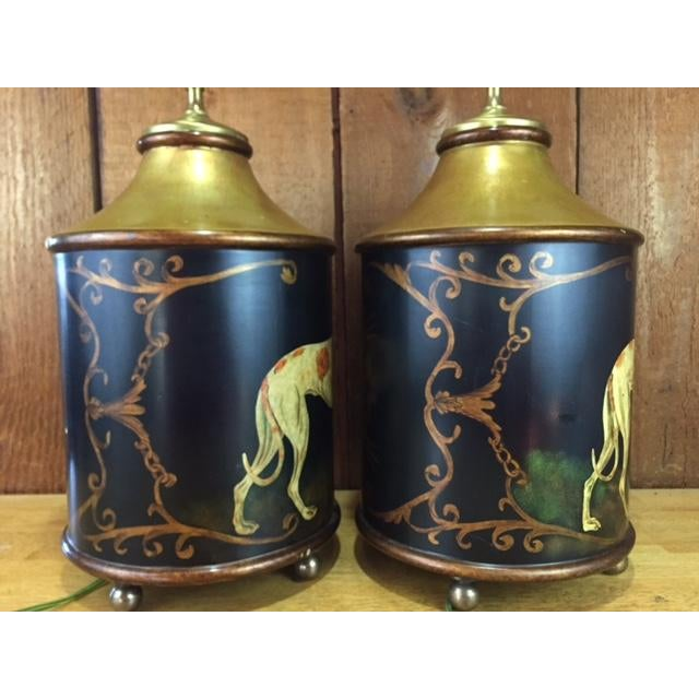Vintage Whippet Dog Table Lamps - Pair - Image 7 of 11