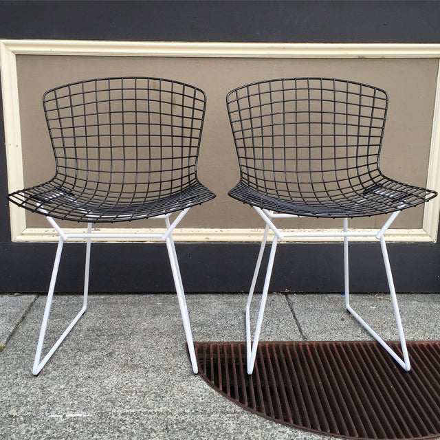 Harry Bertoia for Knoll Wire Chairs - Set of 6 - Image 2 of 8