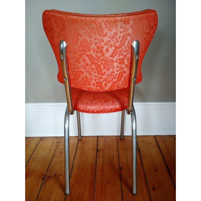 1950s Retro 1950s Vinyl & Chrome Dining Chairs - Set of 4 For Sale - Image 5 of 10