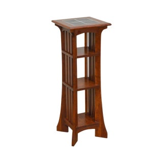 Ethan Allen American Impressions Mission Style Tile Top Side Table Stand