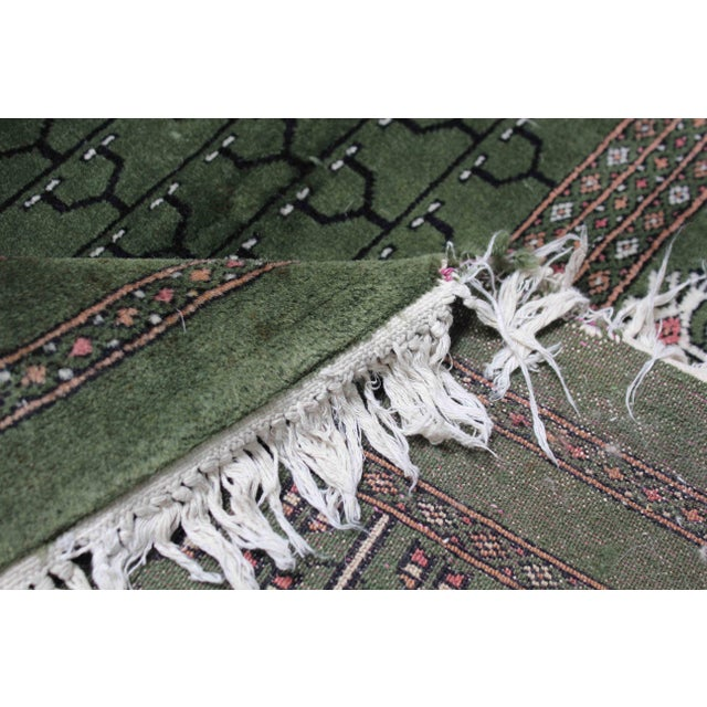 Hand-Knotted Pakistan Bokhara Rug For Sale In Los Angeles - Image 6 of 9
