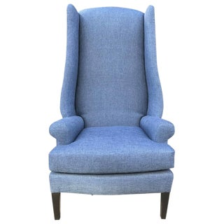 1950s Decorative Wingback Chair For Sale