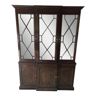 Late 20th Century Traditional Wooden China Cabinet