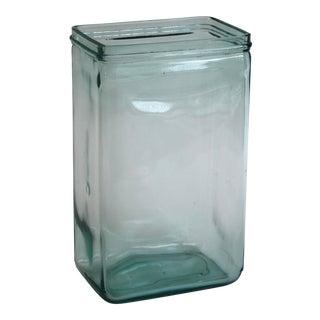 Aqua Glass Battery Jar
