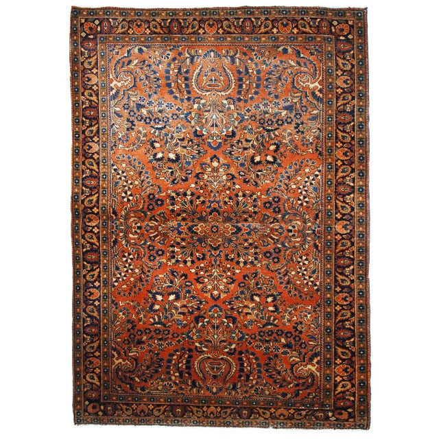 1920s, Handmade Antique Persian Sarouk Rug For Sale - Image 13 of 13