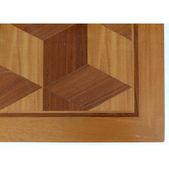 Wood Mid-Century Baker Inlaid Geometric Design Side Table For Sale - Image 7 of 10