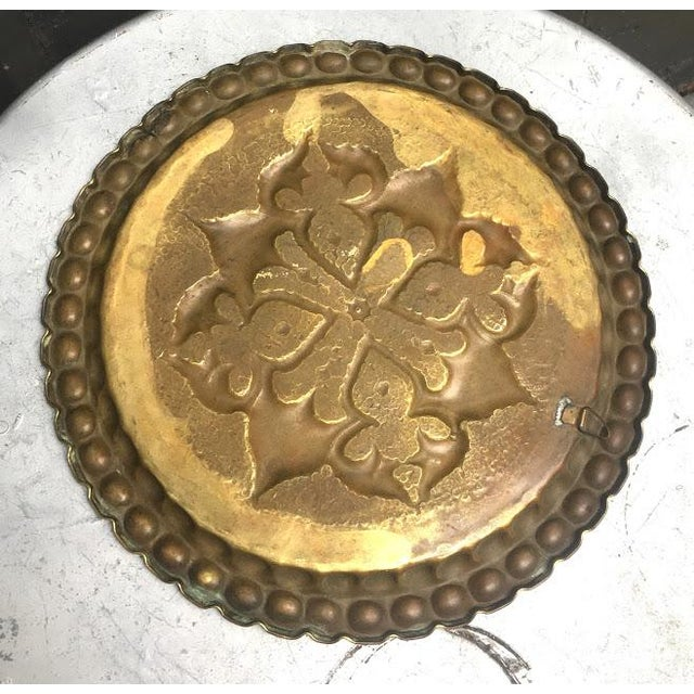 1940s Hammered Brass Gong / Tray Wall Art For Sale - Image 4 of 5