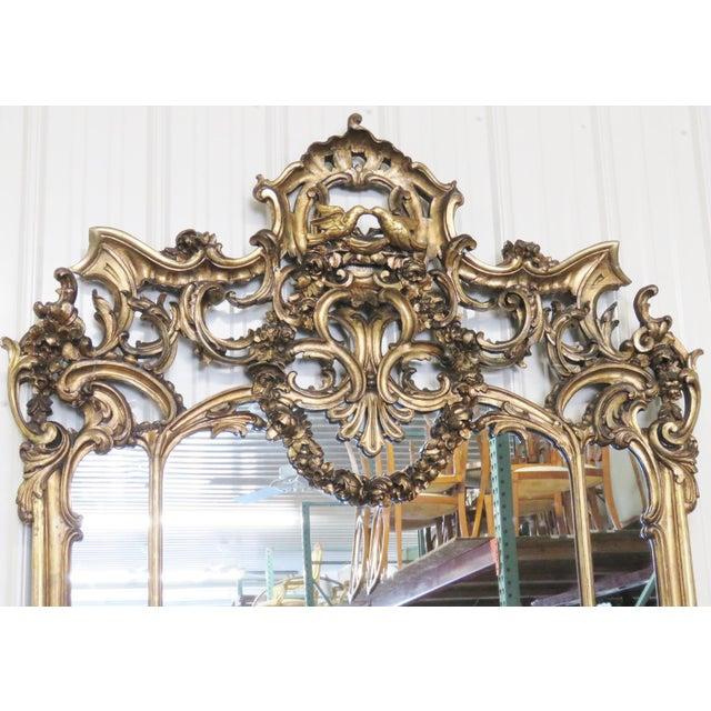 Italian Style Figural Gilt Carved & Marble Console &Mirror For Sale In Philadelphia - Image 6 of 10
