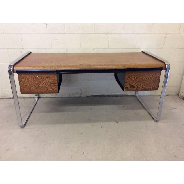 Peter Protzman for Herman Miller Exotic Zebrawood Desk For Sale - Image 11 of 11