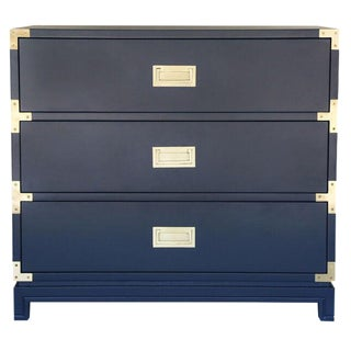 Small Carlyle Campaign Dresser in Navy For Sale