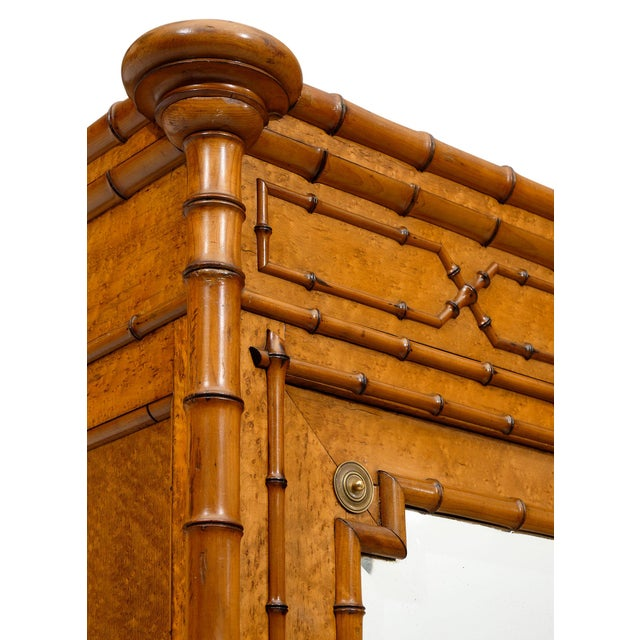 Late 19th Century French Antique Bamboo Bonnetiere For Sale - Image 5 of 10