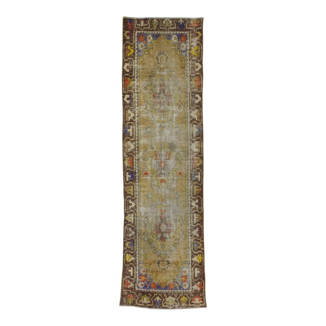 Worn Vintage Turkish Runner Rug - 2′6″ × 8′8″ - Image 1 of 6
