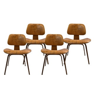 1960s Herman Miller for Eames Plywood Dining Chairs-Set Of 4 For Sale