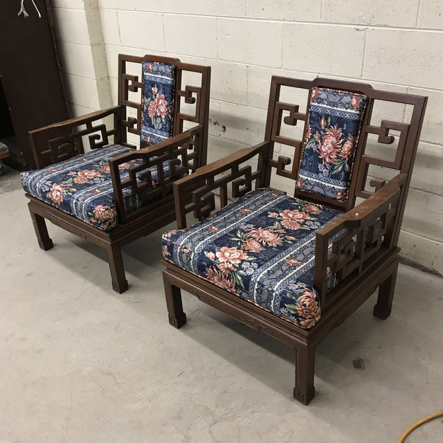 First, please see matching sofa in my listings. These are amazing! Get ready for spring with this pair of Rosewood Asian...