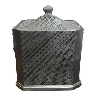 Mid-Century Modern Pewter Ice Box For Sale
