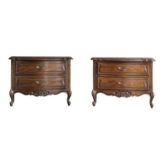 Drexel Heritage French Provincial Nightstands ~ a Pair For Sale