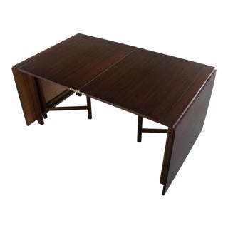 """Mid Century Bruno Mathsson """"Maria Flap"""" Style Dining Table For Sale"""