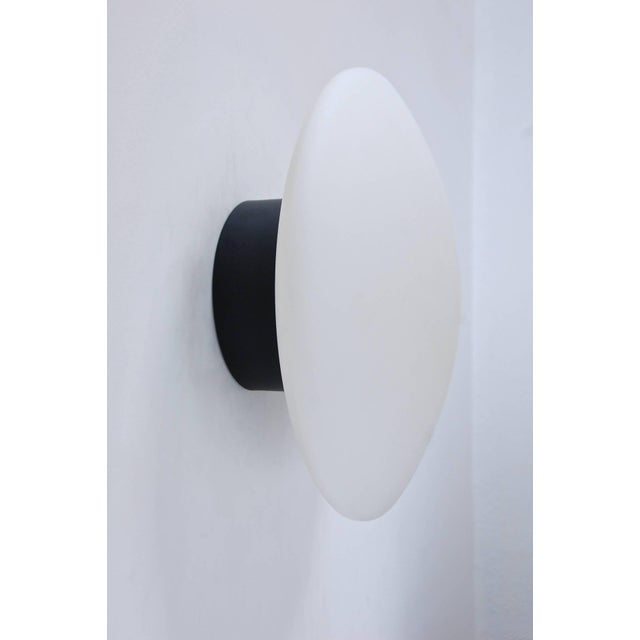 White Large Arteluce Attributed Flush Mount For Sale - Image 8 of 10