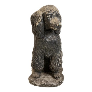 Poodle Dog Stone Garden Ornament For Sale