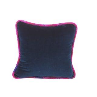 Boho Chic Navy Luxurious Velvet Pillow – K101 - 22x22 For Sale