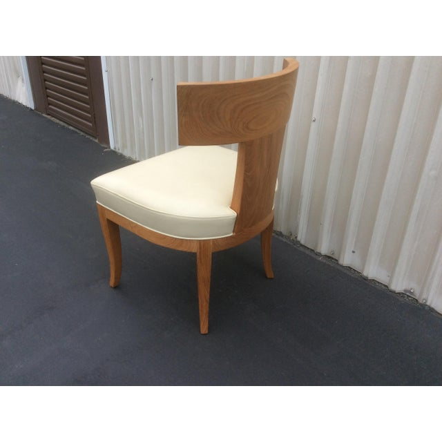 Tan Mid Century Style Ceres Chair With Leather Seat by Ironies For Sale - Image 8 of 11