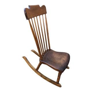 1940s Vintage Low Slung Nursing Rocking Chair For Sale