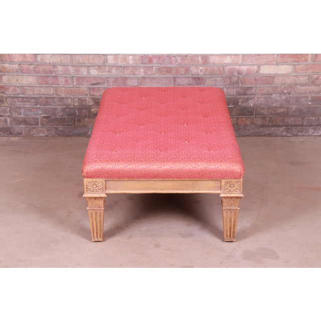 Baker Furniture French Louis XVI Gilt Upholstered Bench, Circa 1960s For Sale - Image 10 of 13