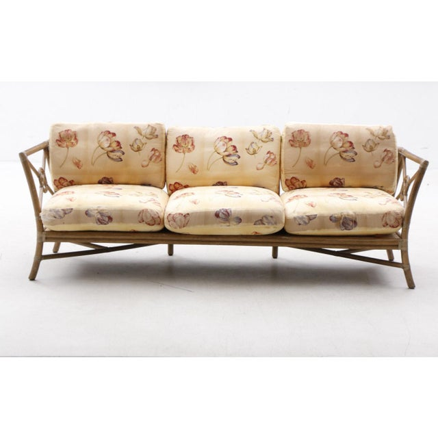 Wood 1980s Vintage McGuire Target Bamboo and Rattan Sofa For Sale - Image 7 of 7