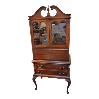 1940s French Arched Top Secretary For Sale