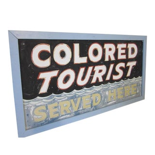 Rare and Historical Colored Tourist Highway Sign