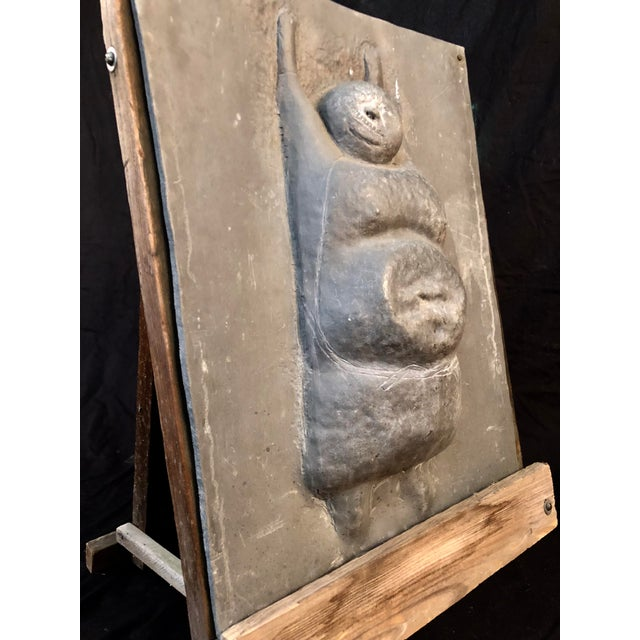 Late 20th Century Figural Sculpture in Lead Attributed to Leonard Baskin For Sale - Image 5 of 10