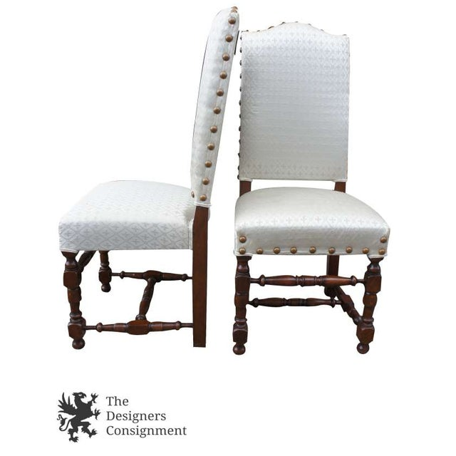 Early 20th Century Early 20th Century Vintage Jacobean Spanish Style Dining Chairs- Set of 6 For Sale - Image 5 of 13